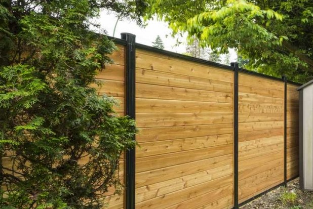 aluminum wood fence panels