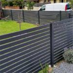 aluminum semi privacy gate