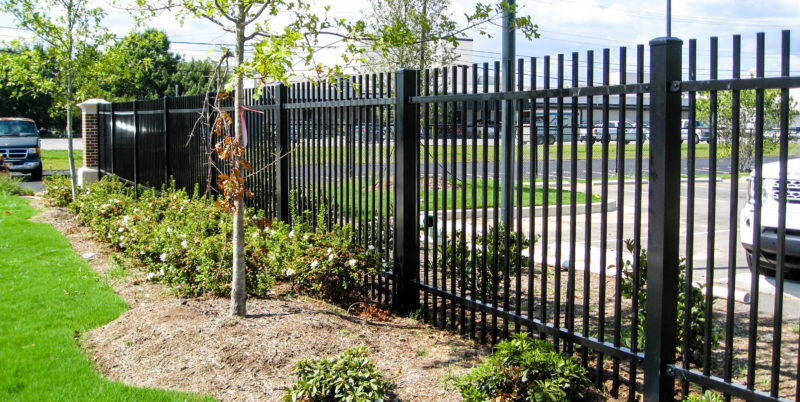 palisade aluminum fence panels commercial