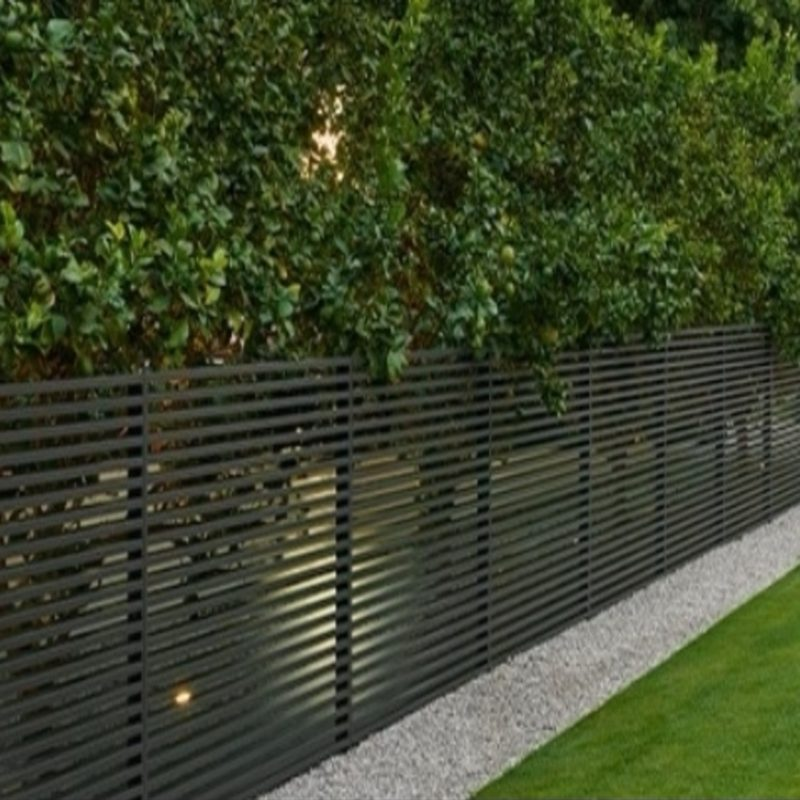 semi-privacy aluminum fence canada