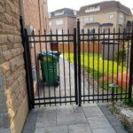 aluminum picket gate